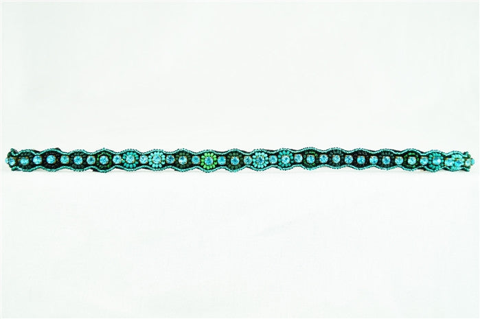 Stretch Band with Beaded Flower Accents