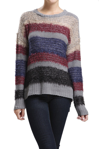 Multi Color Striped Sweater