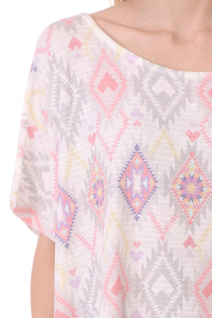 Short Sleeve Poncho Style Top