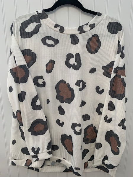 Leopard Loose Fit Top
