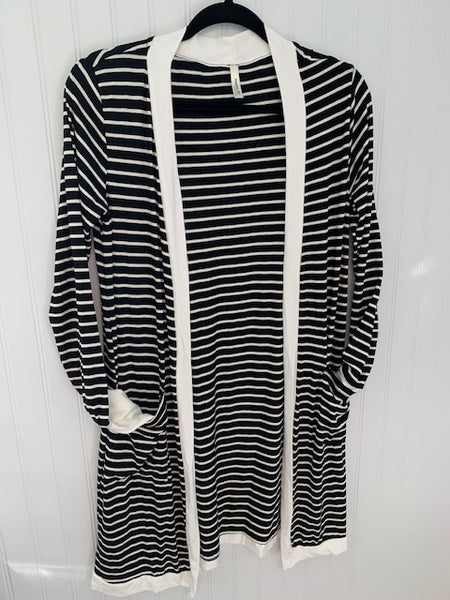 Black & White Stripe Cardigan