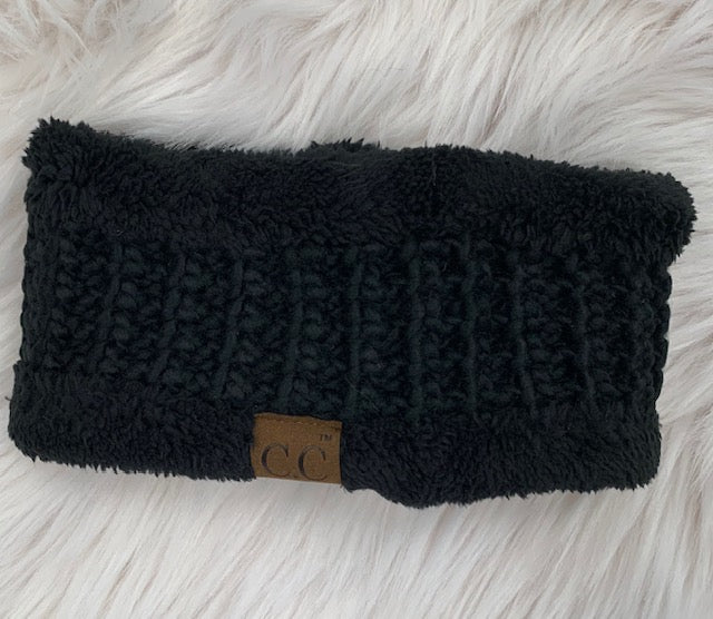 Chunky Knit Sherpa Lined Head Wrap