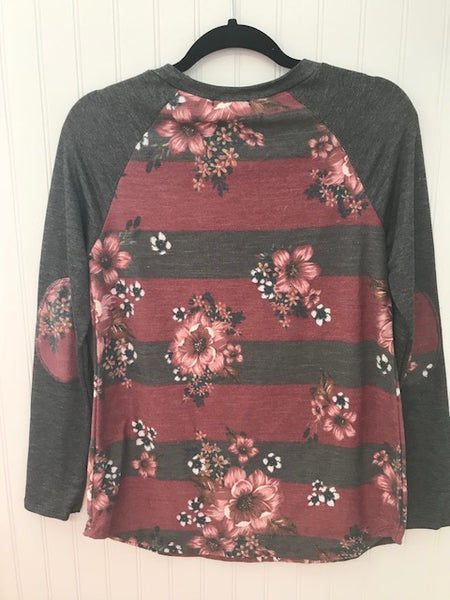 French Terry Floral Top