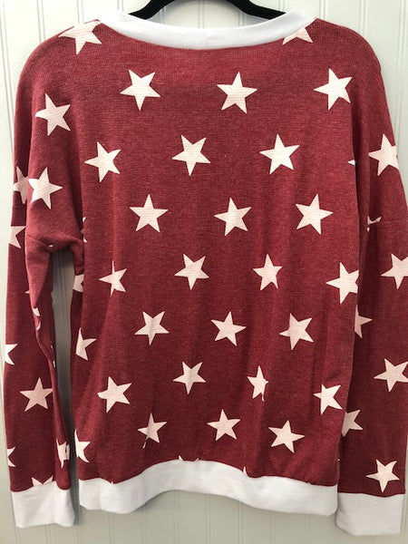 Long Sleeve Thermal Star Sweatshirt
