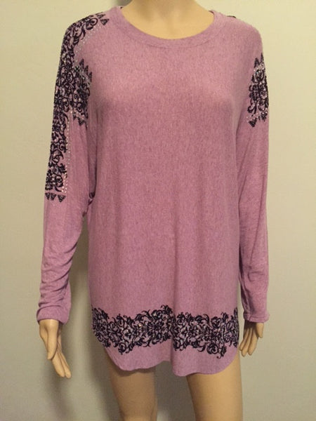 Light Purple Long Sleeve Shirt