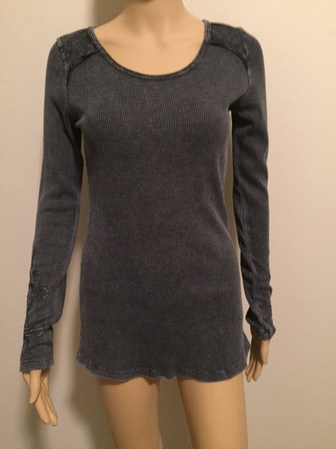 Long Sleeve Charcoal Thermal Top