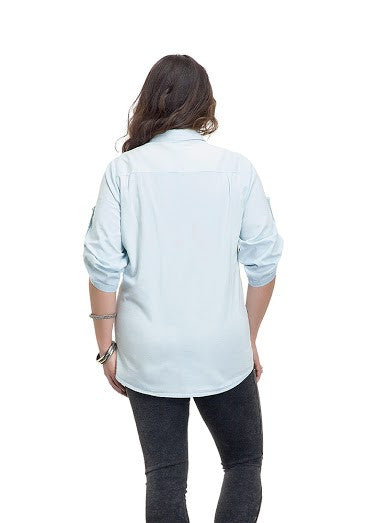 Denim Button Down Shirt Plus Size