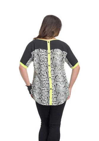 Plus Size Snake Neon Top