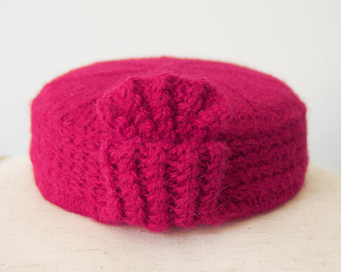 Pillbox Hat - Angelina in Fuchsia