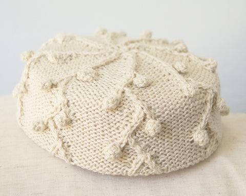 Pillbox Hat - Holly in Anglaise