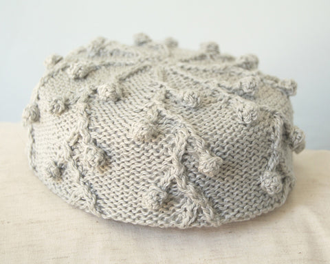 Pillbox Hat - Holly in Grey Glaze