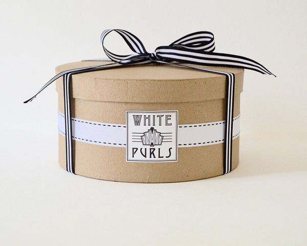 White Purls Hat Box