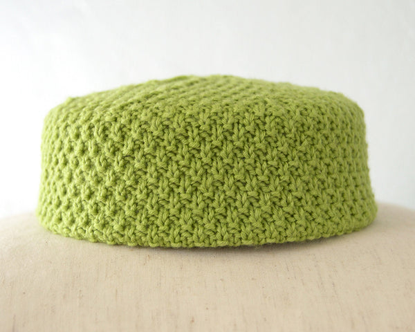 The Jackie Pillbox Hat - Keylime