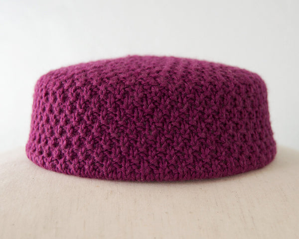 The Jackie Pillbox Hat - Plum