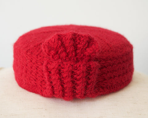 The Angelina Pillbox Hat in Red
