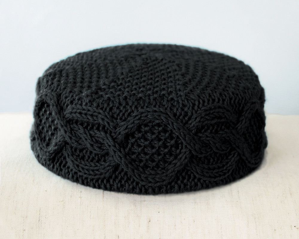 The Melanie Pillbox Hat in Jet Black