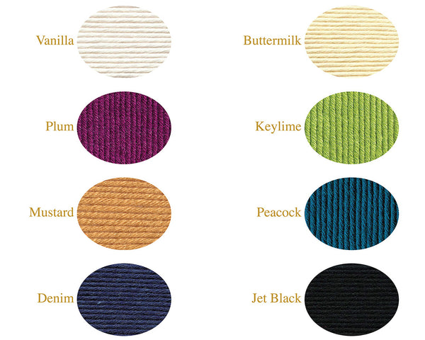 8 Color Selection of Cashmerino Wool Yarn