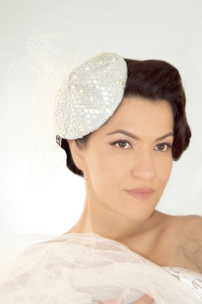Fascinator Pillbox Hat with Veil - Product