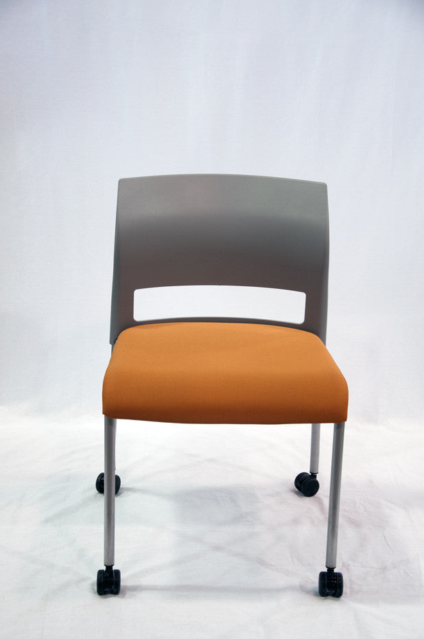 Move Armless Upholstered Orange