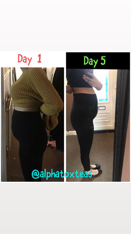 5 day weight loss results with Alphatox