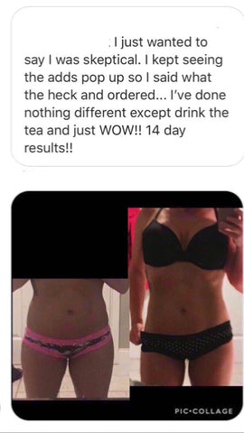 Stor transformasjon med vårt Detox Tea Fitness Bundle