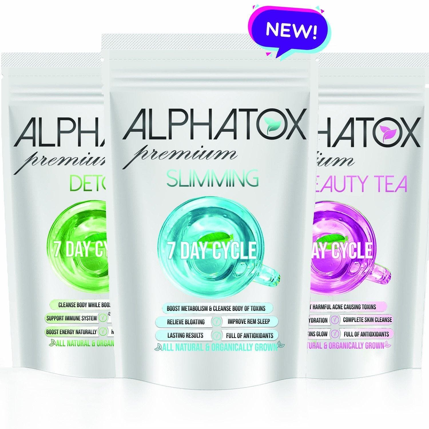 Alphatox ( 7 Day ) Cycles - Alphatox Premium Fitness Teas