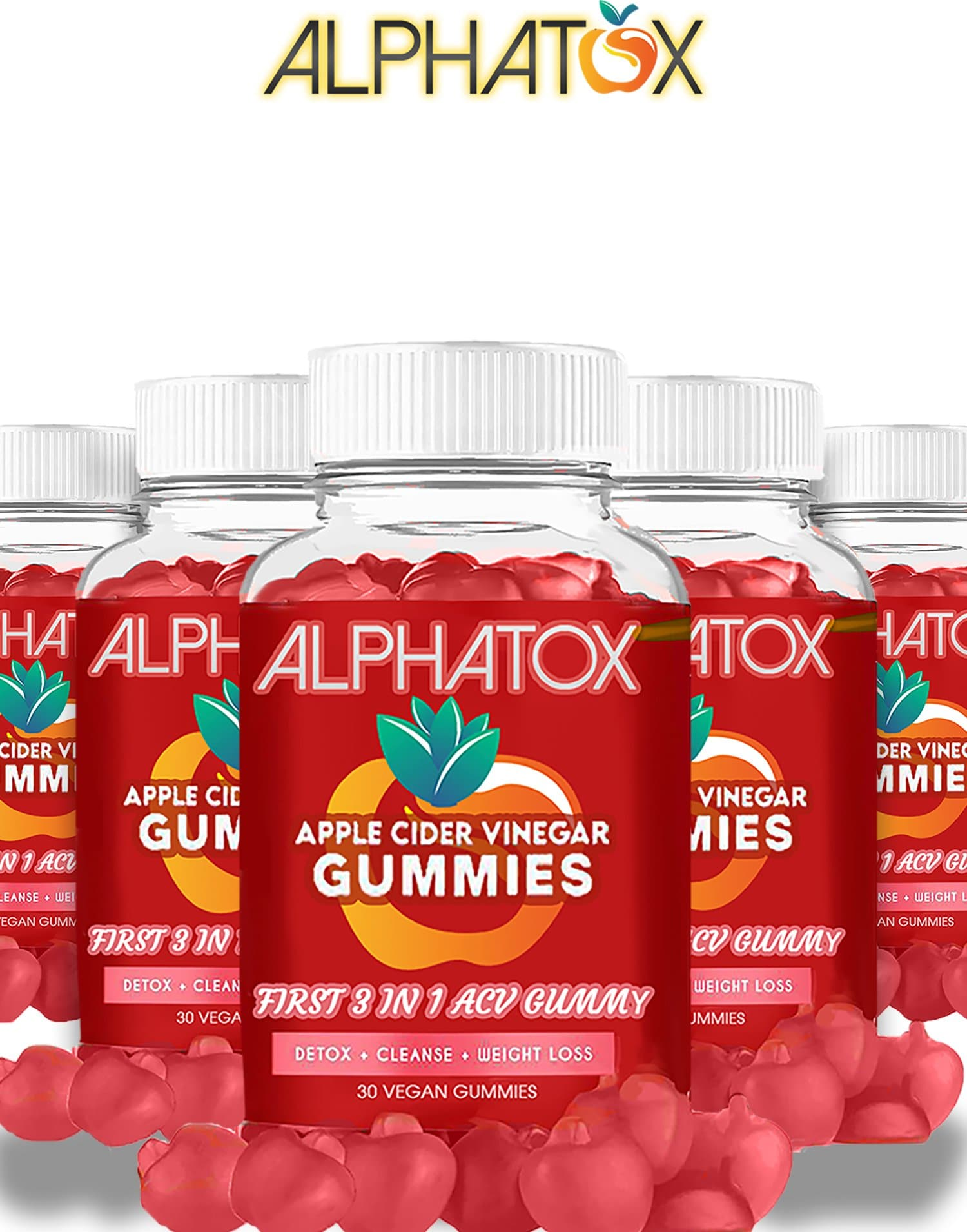 Alphatox Famous ACV 500MG Gummy's ( 30 Day )
