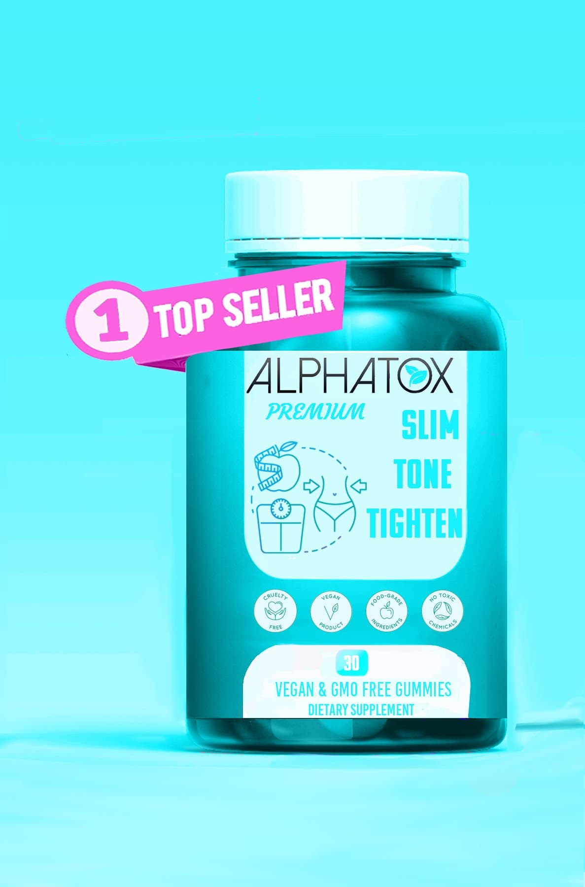 Alphatox Slim, Tone, & Tighten Gummy Bears ( 30 Day Supply ) ( Famous Gummies )