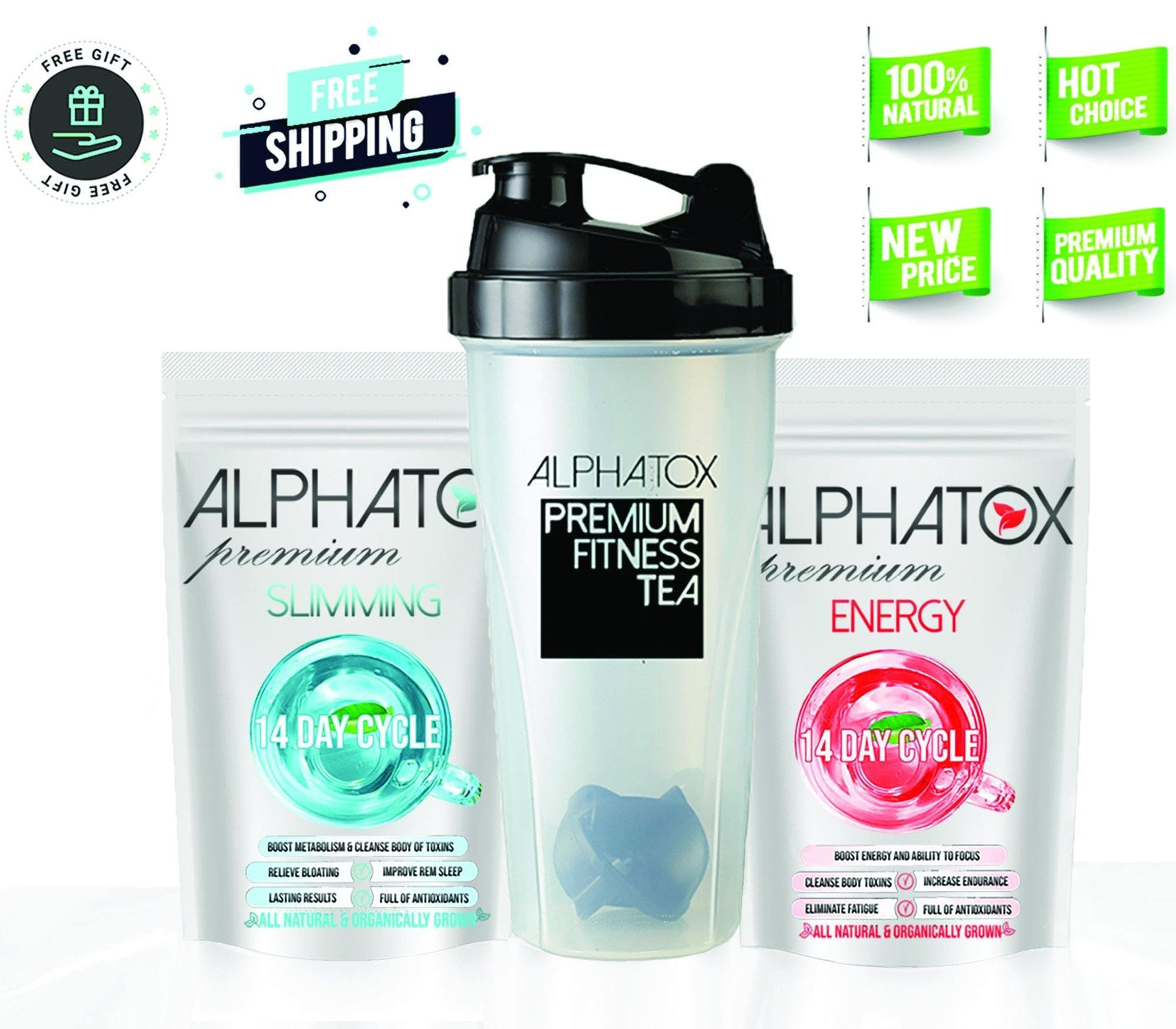Alphatox™ Flat Tummy Bundle (14 Day Program) - Alphatox Premium Fitness Teas