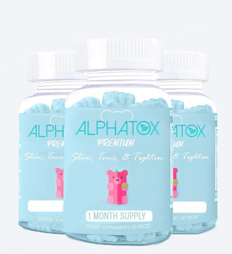 ( 3 Pack ) Alphatox Slim, Tone, & Tighten Gummies ( 90 Day Supply ) - Alphatox Premium Fitness Teas