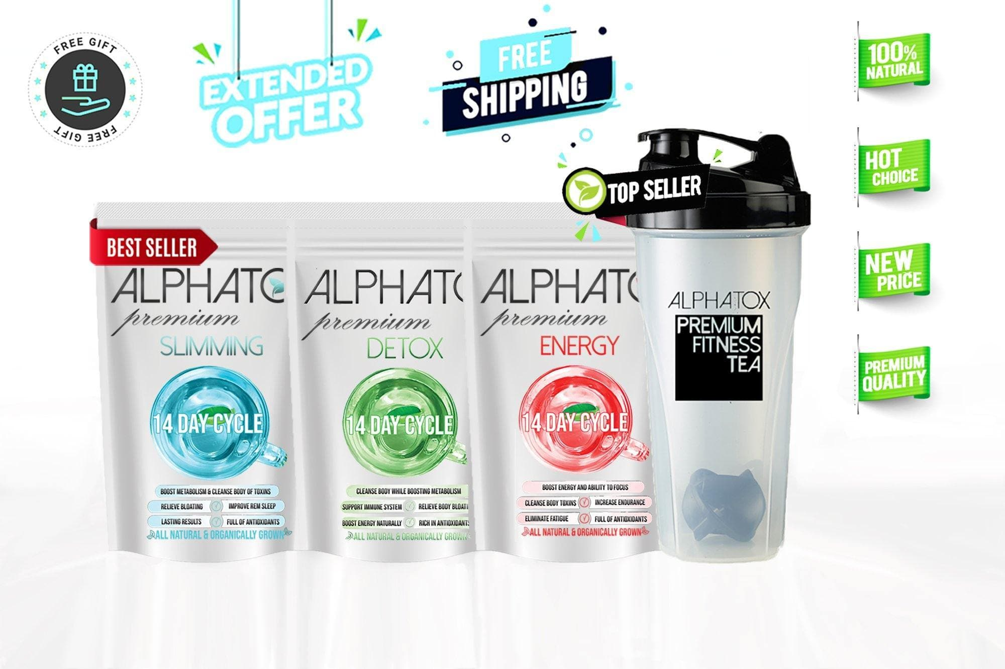 Alphatox Fitness Bundle (14 Day Quick Detox Program) - Alphatox Premium Fitness Teas