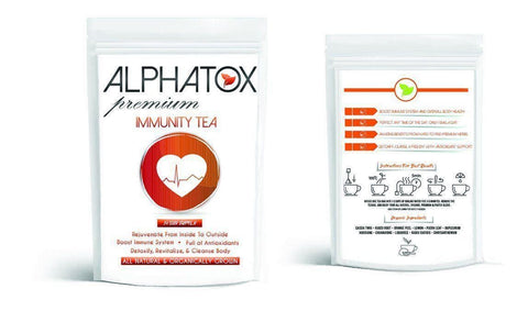 Alphatox Immunity Tea ( 14 Day ) - Alphatox Premium Fitness Teas - #1 Rated For Over 5 Years! - Free 1-2 Day Shipping - Weight Loss Teas For Women & Men. Fat Burning Tea Infused Serums. Slimming, Skinny Gummy Bears, & More!