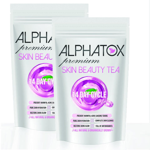 Alphatox Skin Cleanse Tea (28 Day) - Alphatox Premium Fitness Teas - #1 Rated For Over 5 Years! - Free 1-2 Day Shipping - Weight Loss Teas For Women & Men. Fat Burning Tea Infused Serums. Slimming, Skinny Gummy Bears, & More!