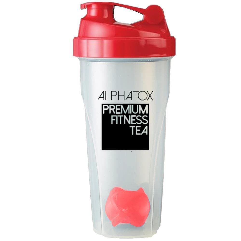 24 Ounce Alphatox Blender Bottle (BPA AND DEHP FREE) - Alphatox Premium Fitness Teas