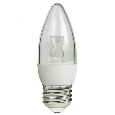 40 Watt Equivalent, 2700K, Soft White, 5 Watt, Dimmable, LED Candelabra Medium Base, E26 (infinite)