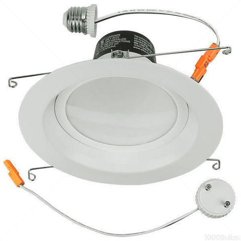 "4"" LED Retrofit Downlight, 60 Watt Equivalent, 12 Watt, 2700K, Soft White, Dimmable (Infinite)"