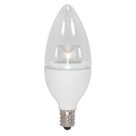 40 Watt Equivalent, 2700K, Soft White, 5 Watt, Dimmable, LED Candelabra Small Base E12