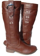 3-Style Retro Calf High, Brown Genuine Leather Boots