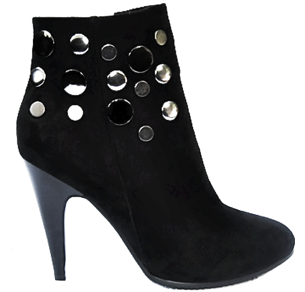 Modern Ankle Boots with Round Metallic Accessory