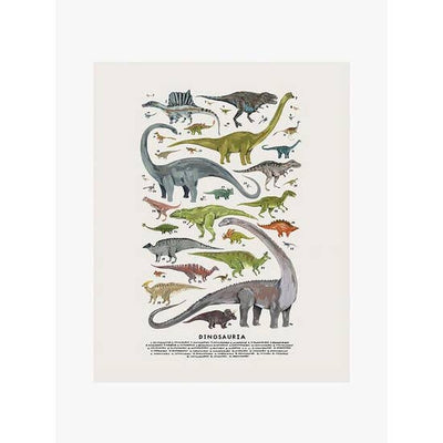 Wall Art Print - Extinct Creatures of the Clade Dinosauria Art Print - 8x10