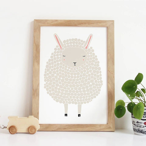 Gray Sheep Art Print 8X10