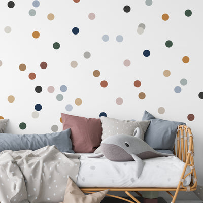 Dusty Colors Tiny Dots - Wall Decal