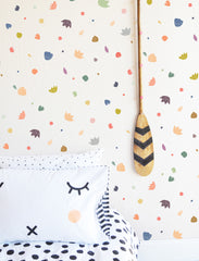 Floral Confetti Colorful Compilation - WALL DECAL