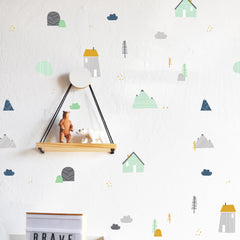 Mountain Retreat Colorful Compilation - WALL DECAL