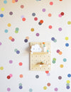 Muted Rainbow Confetti Dots Wall Decal