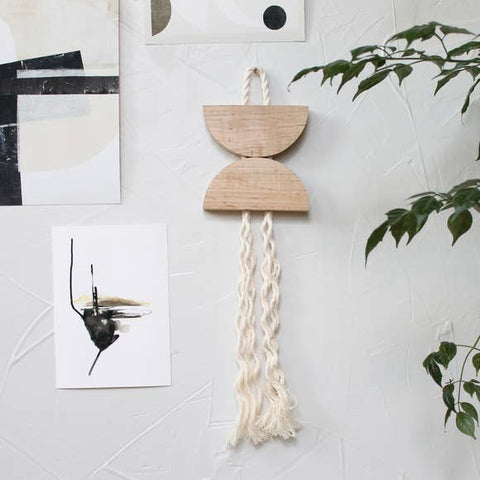 Wall Hanging - Maple & Rope Small Dune Hanging - Wall Decor