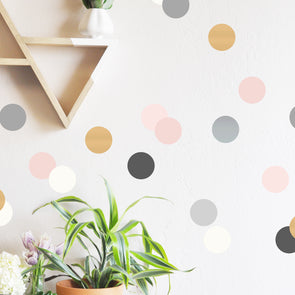 Neutrals and Metallics Confetti Dots Wall Decal