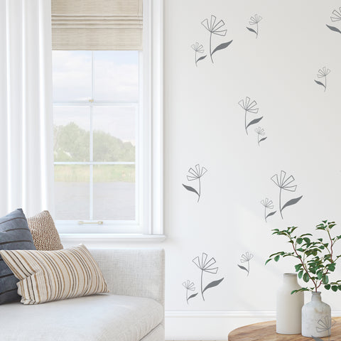 Open Flowers  - Wall Decals
