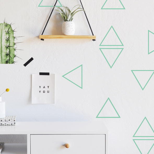 Hand Cut Triangles - WALL DECAL