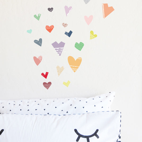 Paper Cut Hearts - wall sticker - room decor